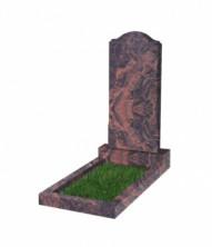 Памятник  резной вертикальный 1100*500*70 (Индия, коричневый )