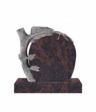 Памятник  элитный вертикальный 1000*1100*100 (Индия, коричневый )