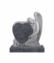Памятник элитный вертикальный 1300*1100*120 (Индия, голубой )