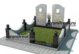 Комплексное решение для оформления могилы из гранита с памятником