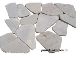 Галтованный камень песчаник серо зелёный 2см