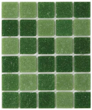 Мозаика стеклянная (20х20 мм.) DARK GREEN