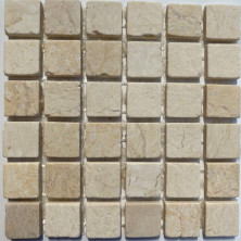 Мозаика из натурального мрамора (15х15х4мм)