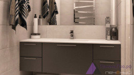 Столешница со встроенной мойкой для ванной