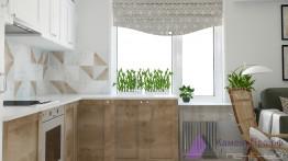 Белая столешница для маленькой кухни