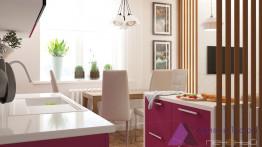 Прямая белая столешница для кухни с интегрированной мойкой