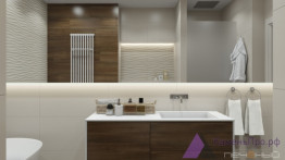 Белая прямая столешница для ванной