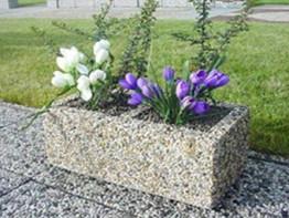 Вазон «Дабл» бетонный