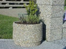 Вазон «Степ» бетонный