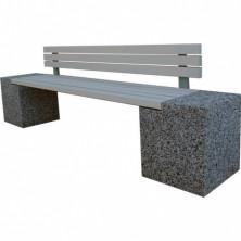 Скамейка «Евро 2 со спинкой» бетонная