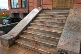 Лестница Гранит Мадура Голд