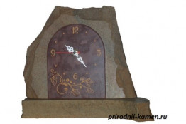 Часы каминные из камня