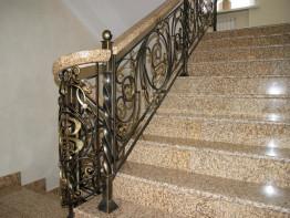 Лестница из камня бизнес центр. Коллекция гранита Sunset Gold