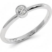 Кольцо с камнем в глухой оправе Bezel 0,1 карата