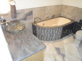 Накладка на ванну из искусственного камня Corian Absolute Beige