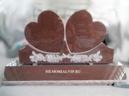 Памятник двойное сердце