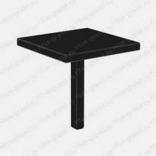 Стандартный стол на могилу из черного гранита габбро