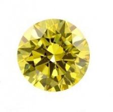 Желтый Муассанит огранка круг 5мм Вес 0,5Ct Бренд-KurDen