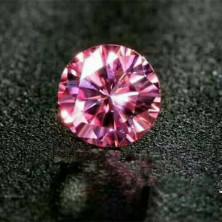 Розовый Муассанит огранка круг