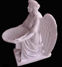Скульптура ангела с чашей святой воды