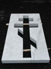Надгробная плита из мрамора