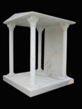 Пантеон на кладбище из мрамора