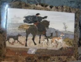 Картины из камня выполненные на гидроабразивной резке