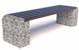 Скамейка бетонная ЕВРО