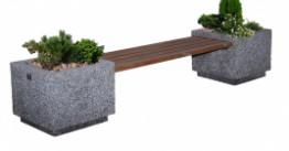 Скамья бетонная