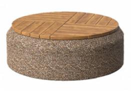 Скамья круглая из бетона
