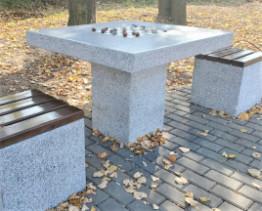 Стол шахматный уличный из бетона