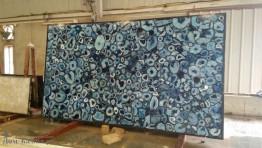 Слэбы - агат Голубой Агат Экстра / Agate Blue Extra