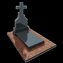 Памятник на могилу из гранита Крест с плитой