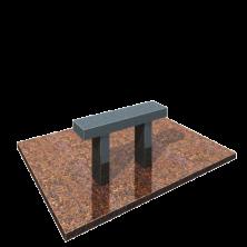лавка на могилу из гранита