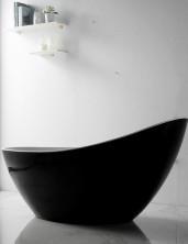 Ванна акриловая отдельностоящая, 184х79 см, черный