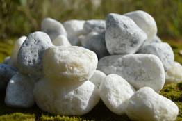 Галтованный бело-серый мрамор