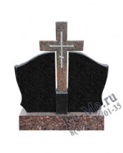 Недорогой гранитный комплекс из двух стел и креста