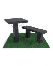 Гранитная лавка и стол