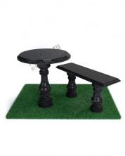 Гранитная лавка и стол с балясинами