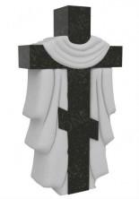 Крест на могилу с плащеницей