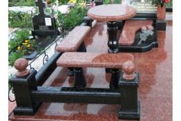Стол и лавочка для оформления надгробия