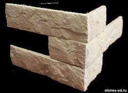 Декоративный кирпич Brick Beige угловые элементы