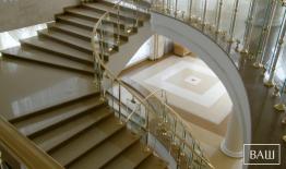 Лестница из Кварцевого Агломерата – Technistone ELEGANCE ECO NEV