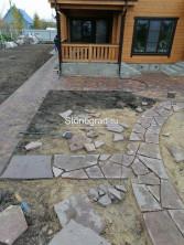 Природный Камень Плашка Из Лемезита Бордо