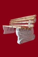 Скамейка бетонная со спинкой Лебедь