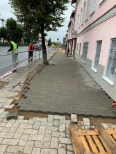 Укладка тротуарной плитки под ключ  (на готовое основание) включены работа, материалы