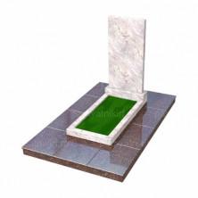 Прямой мраморный памятник