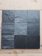Плитка из сланец графитовый (серо-черный) 4-х сторон 200х200