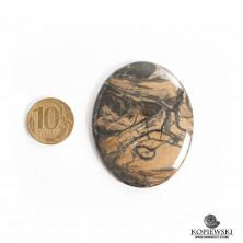 Кабошон из сенгилита 60*47*5 мм