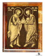 Симбирцитовая икона Святые Апостолы Петр и Павел 70/85